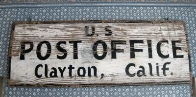Old Clayton Post Office Sign image. Click for full size.