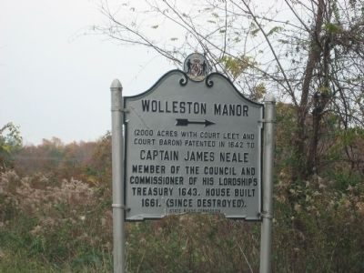 Wolleston Manor Marker image. Click for full size.