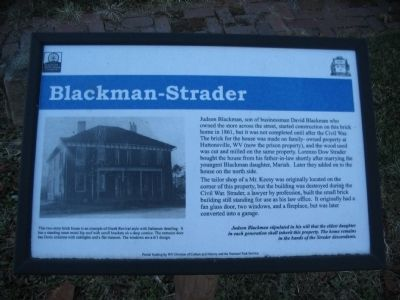 Blackman-Strader Marker Photo, Click for full size