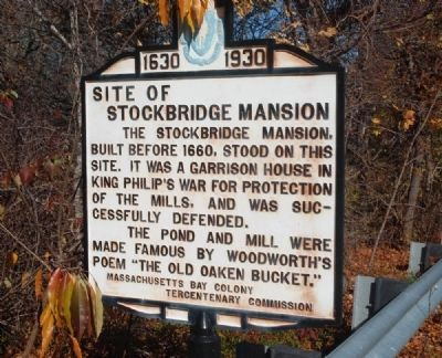 Site of Stockbridge Mansion Marker image. Click for full size.