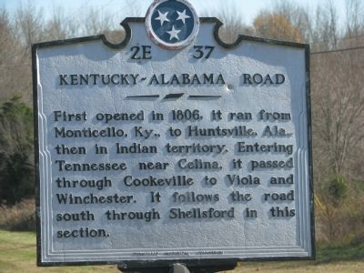 Kentucky-Alabama Road Marker image. Click for full size.