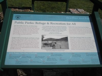 Public Parks: Refuge & Recreation for All Marker image. Click for full size.