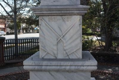Coffee County Confederate Monument , north face image. Click for full size.