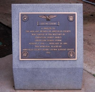 Operation Desert Shield / Storm Monument image. Click for full size.