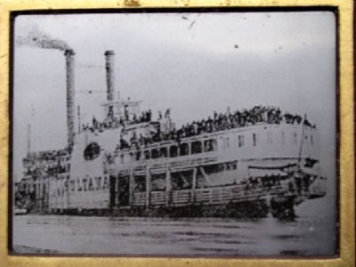 Photo of the <i>Sultana</i> on Marker image. Click for full size.