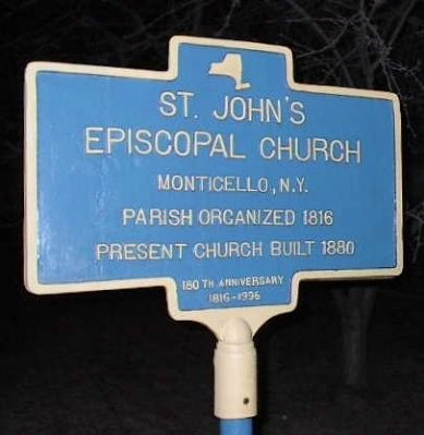 St John's Episcopal Church Marker image. Click for full size.