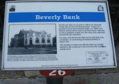 Beverly Bank Marker image. Click for full size.