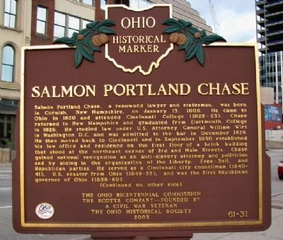 Salmon Portland Chase Marker (Side A) image. Click for full size.
