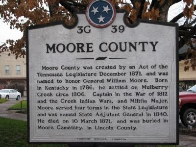 Moore County Marker image. Click for full size.