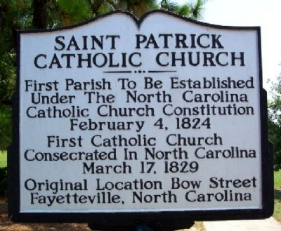 Saint Patrick Catholic Church Marker image. Click for full size.