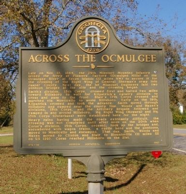 Across the Ocmulgee Marker image. Click for full size.