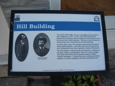Hill Building Marker Photo, Click for full size