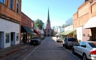 Trinity Episcopal Church -<br>Looking West Along Trinity Street image. Click for full size.