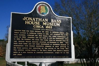 Jonathan Bass House Museum Marker image. Click for full size.