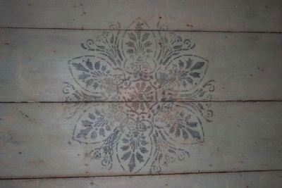 Example Of The Stenciling On The Ceiling. image. Click for full size.