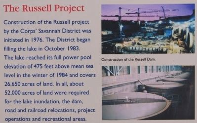 Richard B. Russell Dam Marker -<br>The Russell Project Photo, Click for full size