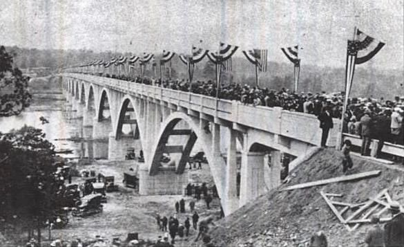Savannah River Memorial Bridge Dedication Postcard Photo, Click for full size
