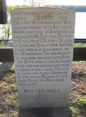 Winneshiek's Landing Marker image. Click for full size.