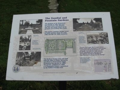 The Sundial and Fountain Gardens Marker image. Click for full size.