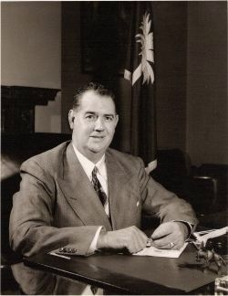 Olin D. Johnston<br>1896&#8211;1965<br>As Governor of South Carolina Photo, Click for full size