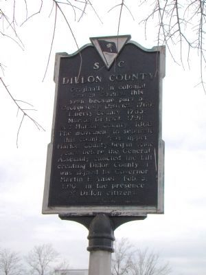 Dillon County face of Marker image. Click for full size.