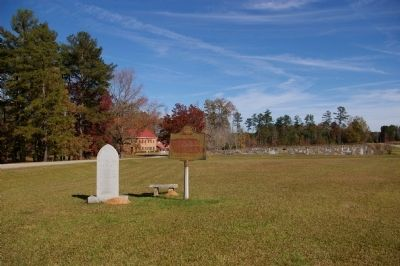 Bethesda Baptist Church Marker, Church, and Old Cemetery image. Click for full size.