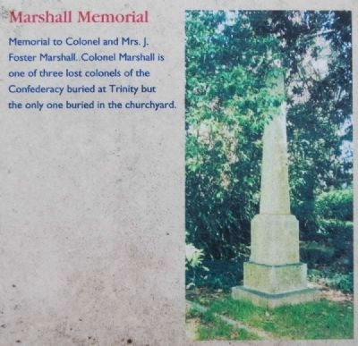 Trinity Episcopal Church Marker -<br>Marshall Memorial image. Click for full size.