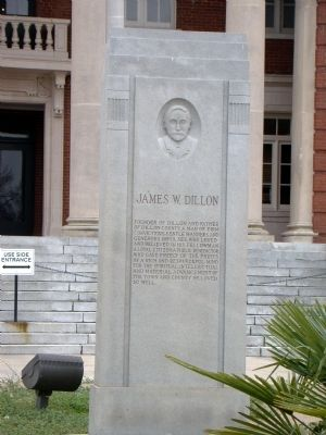 James W. Dillon Monument image. Click for full size.