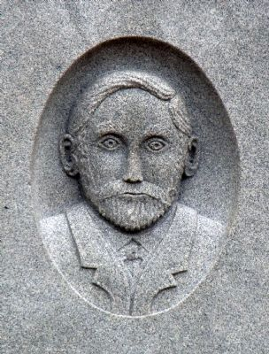 James W. Dillon Portrait Carved on Monument image. Click for full size.