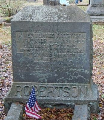 James Townes Robertson Tombstone image. Click for full size.