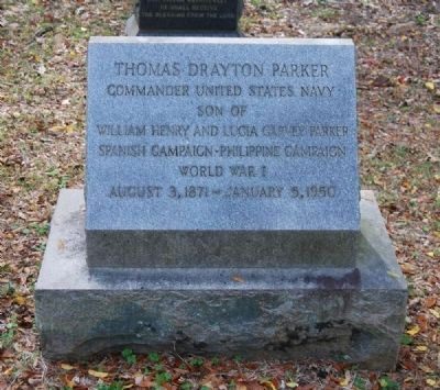 Thomas Drayton Parker Tombstone image. Click for full size.