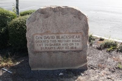 General Blackshear's Military Road Marker image. Click for full size.
