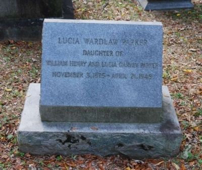 Lucia Wardlaw Parker Tombstone image. Click for full size.