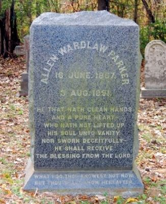 Allen Wardlaw Parker Tombstone image. Click for full size.