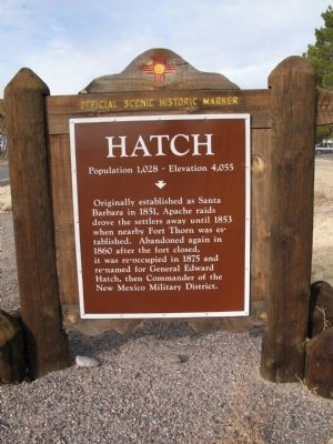 Hatch Marker image. Click for full size.