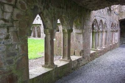 Bective Abbey Cloister Arches image. Click for full size.