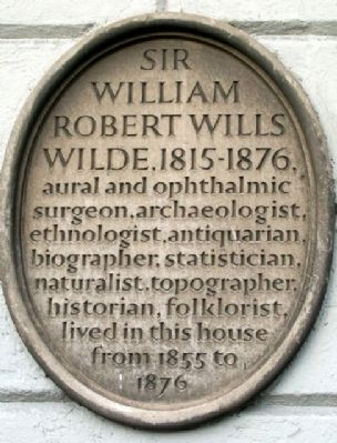 Sir William Robert Wills Wilde Marker image. Click for full size.