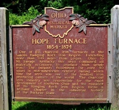 Hope Furnace Marker image. Click for full size.
