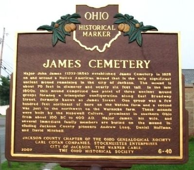 James Cemetery Marker (Side A) image. Click for full size.