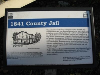 1841 County Jail Marker image. Click for full size.