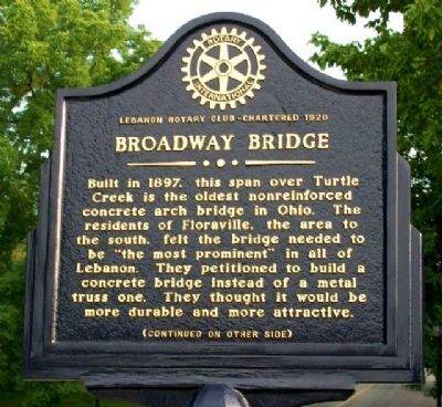Broadway Bridge Marker (Side A) image. Click for full size.