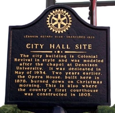 City Hall Site Marker (Side B) image. Click for full size.