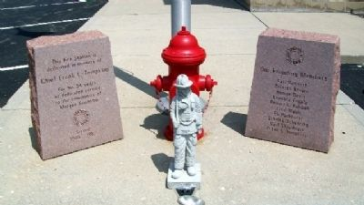 Founding Members of the Morgan Township Fire Department Marker image. Click for full size.