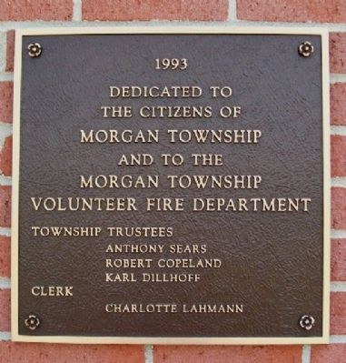 Okeana Fire Station Dedication Marker image. Click for full size.