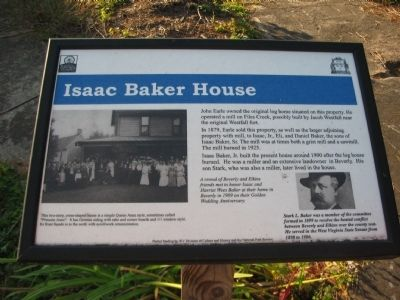 Isaac Baker House Marker image. Click for full size.