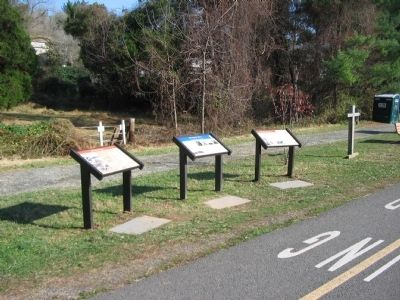 Three Markers at the Site of Hunter Station image. Click for full size.