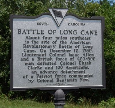 Battle of Long Cane Marker image. Click for full size.