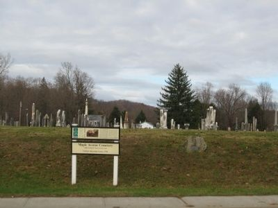 Maple Avenue Cemetery Marker image. Click for full size.