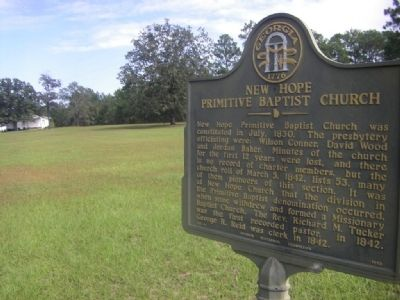 New Hope Primitive Baptist Church Marker image. Click for full size.