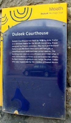 Duleek Courthouse Marker image. Click for full size.
